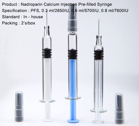 Nadroparin Calcium Injection Pre Filled Syringe Small Volume Parenteral