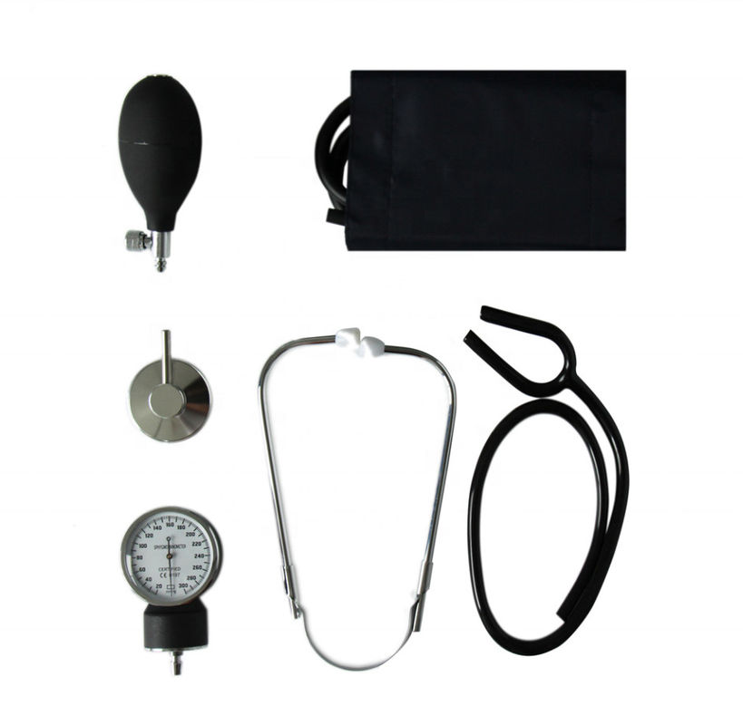 Medical Hospital Portable Aneroid Sphygmomanometer With Stethoscope